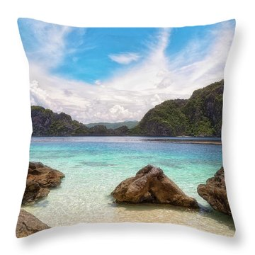 Throw Pillow featuring the photograph Crystal Clear by Russell Pugh