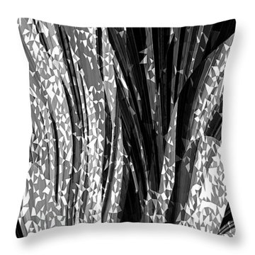 Crystal Floral Black Opposite Throw Pillow