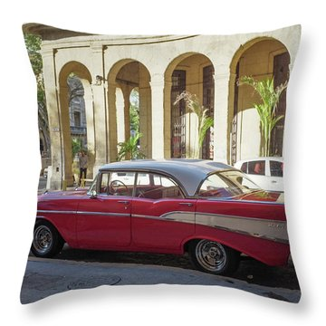 Cuban Chevy Bel Air Throw Pillow