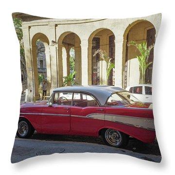 Cuban Chevy Bel Air Throw Pillow