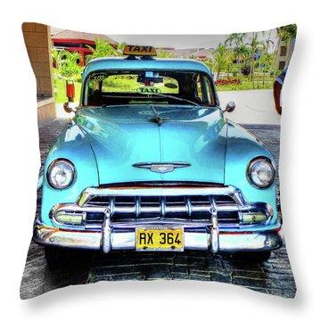 Cuban Taxi Throw Pillow