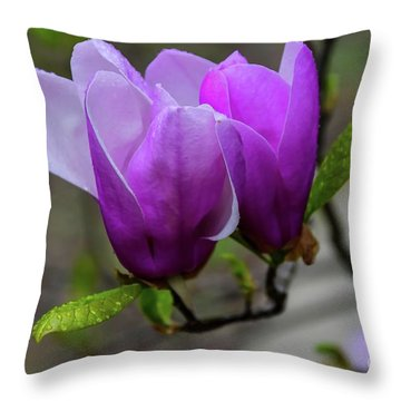 Cuddling In Spring Throw Pillow