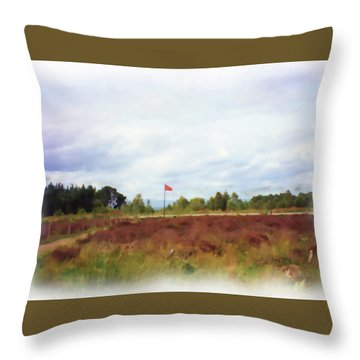 Culloden Battlefield Painting Throw Pillow