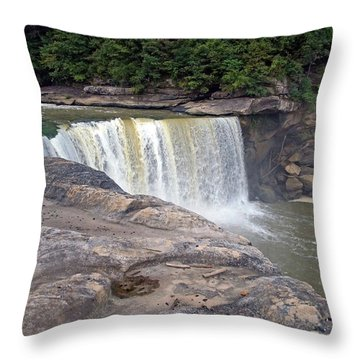 Throw Pillow featuring the photograph Cumberland Falls In The Evening by Mike Murdock
