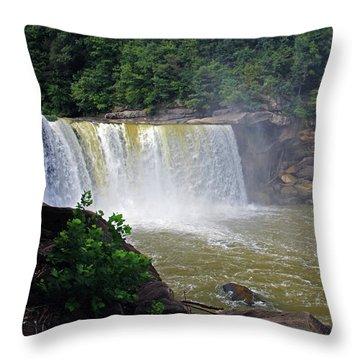 Throw Pillow featuring the photograph Cumberland Falls Kentucky by Angela Murdock