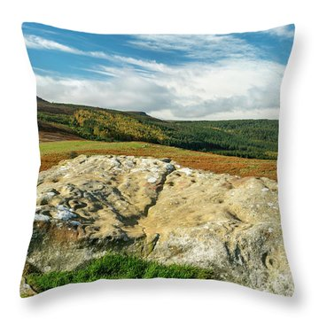 Cup And Ring Rock Throw Pillow