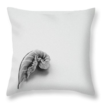 Curled Leaf - Fine Art Photograph Throw Pillow
