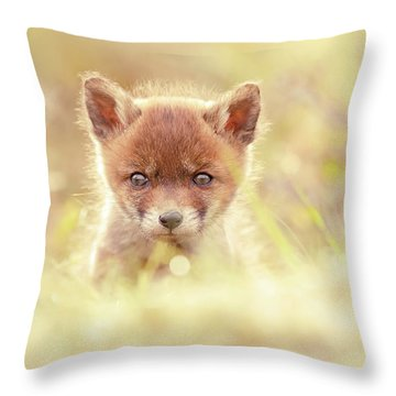 Cute Overload Series - Baby Fox Throw Pillow