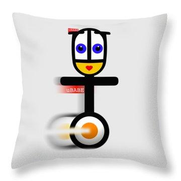Cycle Babe Throw Pillow