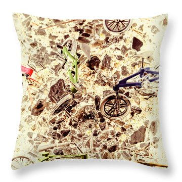 Cycling Abstracts Throw Pillow