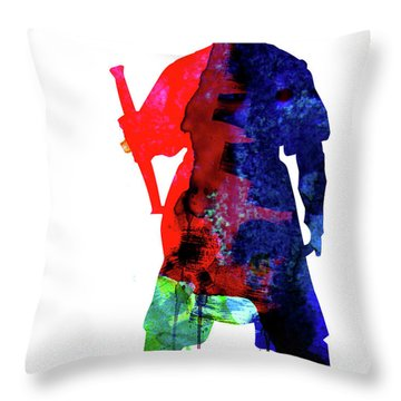 D Maul Watercolor 1 Throw Pillow
