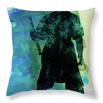 D Maul Watercolor 2 Throw Pillow