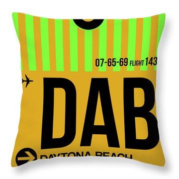 Dab Daytona Beach Luggage Tag I Throw Pillow