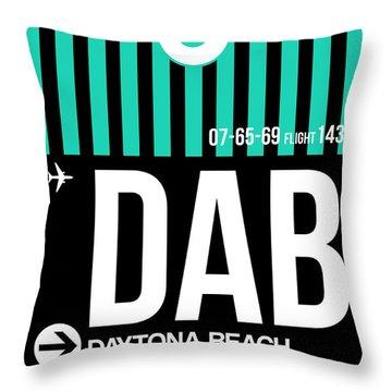 Dab Daytona Beach Luggage Tag II Throw Pillow