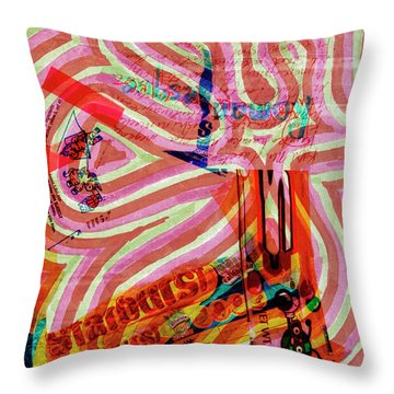 Daddy Jumps Throw Pillow