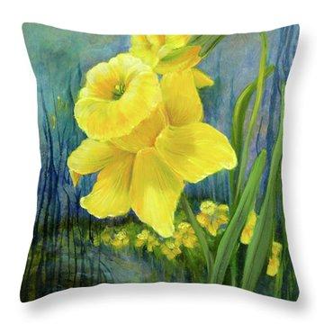 Daffodil Dream Throw Pillow