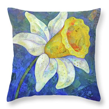 Snowdrops Throw Pillows