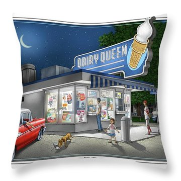 Dairy Queen Throw Pillow