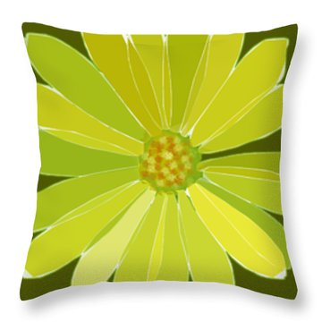 Throw Pillow featuring the digital art Daisy, Daisy by Gina Harrison