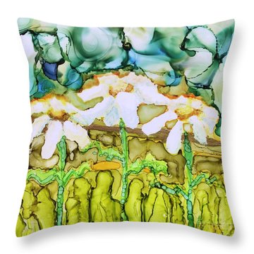 Daisy Impressions Throw Pillow