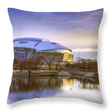 Dallas Cowboys Stadium Arlington Texas Throw Pillow