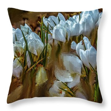 Dance In White #i6 Throw Pillow