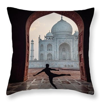 Dancer At The Taj Throw Pillow