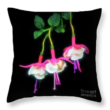 Dancing Fuchsia Abstract Throw Pillow