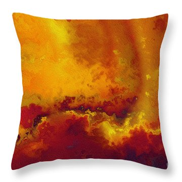 Daniel 6 27. He Delivers And Rescues Throw Pillow