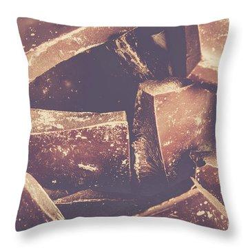 Dark Chocolate Delight Throw Pillow