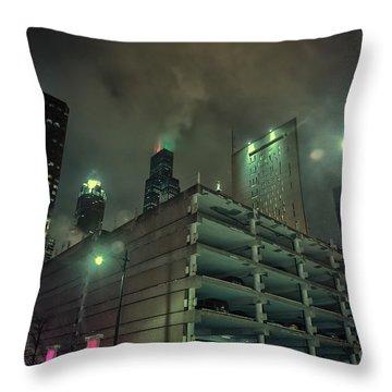 Dark City Throw Pillow