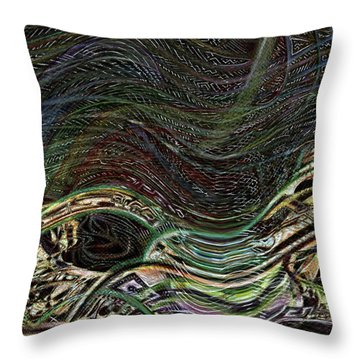 Dark Rainbow Throw Pillow
