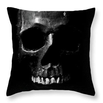 Dark Skull Low Key Throw Pillow