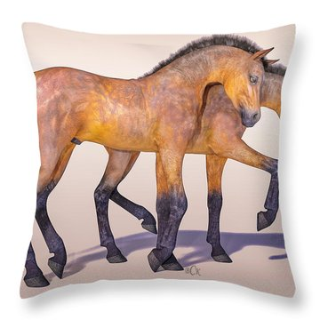 Darling Foal Pair Throw Pillow