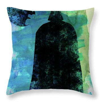 Darth And A Star Watercolor Throw Pillow