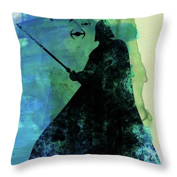 Darth Fighting Watercolor Throw Pillow
