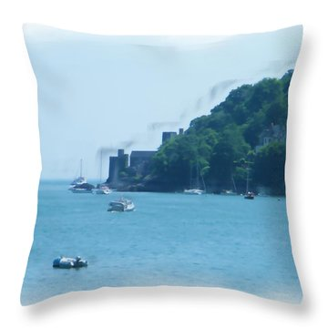 Dartmouth Castle Painting Throw Pillow
