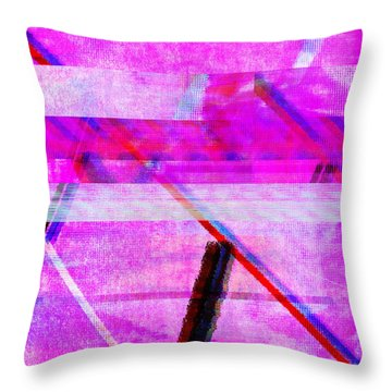 Throw Pillow featuring the digital art Databending #1 by Bee-Bee Deigner