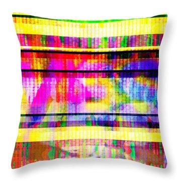 Databending #2 Hidden Messages Throw Pillow