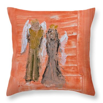 Dating Angels Throw Pillow