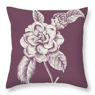 Datura Blush Pink Flower Throw Pillow