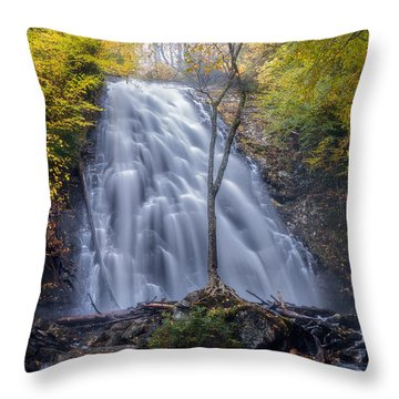 Dawn At Crabtree Falls Throw Pillow