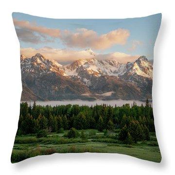 Dawn At Grand Teton National Park Throw Pillow