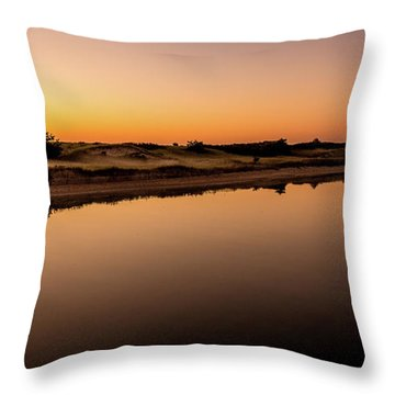 Dawn Light, Ogunquit River Throw Pillow
