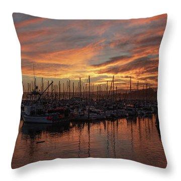 Dawn Monterey Bay California Throw Pillow