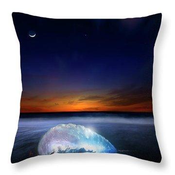 Dawn Of A Warrior Panorama Throw Pillow