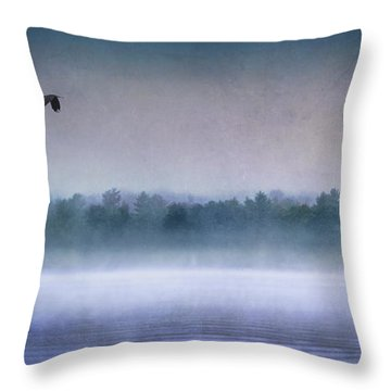 Dawn Of The Fog Throw Pillow