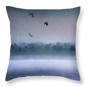 Dawn Of The Fog Throw Pillow