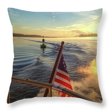 Throw Pillow featuring the photograph Dawn On The Sassafras River by Mark Duehmig