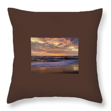 Throw Pillow featuring the photograph Day After Storm 9/16/18 by Barbara Ann Bell